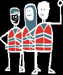 Gediplomeerde Rode Kruis instructeurs